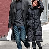 Michael Fassbender and Nicole Beharie take a walk in NYC.