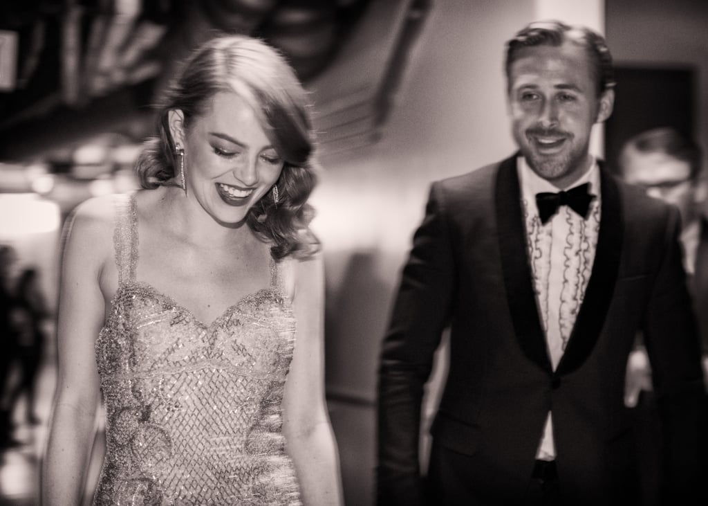 "Emma Stone and Ryan Gosling just might be Hollywood's cutest costars. The La La Land actors, who both scored Oscar nominations for their work in the romantic musical, continued to make us jealous of their BFF status at the big award show on Sunday night. Although Ryan didn't win in the best actor category, Emma took home the best actress trophy and made sure to give her beloved costar a sweet shout-out during her acceptance speech. Later on, the duo handled the best picture mix-up between La La Land and Moonlight with aplomb (after enduring a brutal Oscars-themed round of ""Mean Tweets,"" they were clearly ready for anything), each giving actor Mahershala Ali a big hug.      Related:                                                                The Internet Is Wasting No Time in Trying to Guess What Ryan Gosling Said to This Woman                                                                   Justin Timberlake and Ryan Gosling Had a Sort-Of Awkward Mickey Mouse Club Reunion"