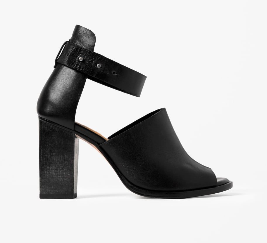 Forget diamante and sparkle. These chunky Cos wood heel sandals (£135) are a more modern approach to party footwear.