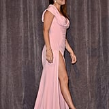 Penélope wore a sexy pink Atelier Versace gown with a thigh-high slit to the Twice Born Toronto Film Festival premiere in September 2012.