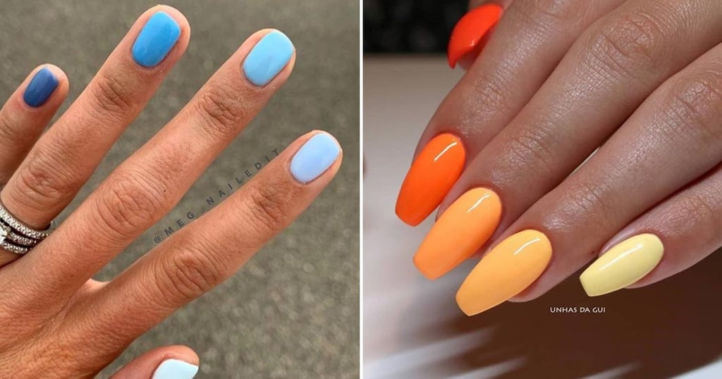 Different-Colour Gradient Nail-Art Polish Combinations