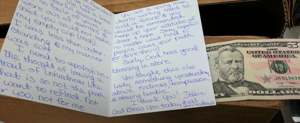 How a Stranger Made 1 Starbucks Barista's Day With a Heartwarming Note