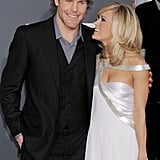 Carrie and Mike were all smiles at the 2010 Grammy Awards in LA.