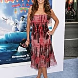 Sofia Vergara was radiant in red on the blue carpet.