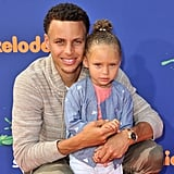 Steph Curry and Riley Curry
