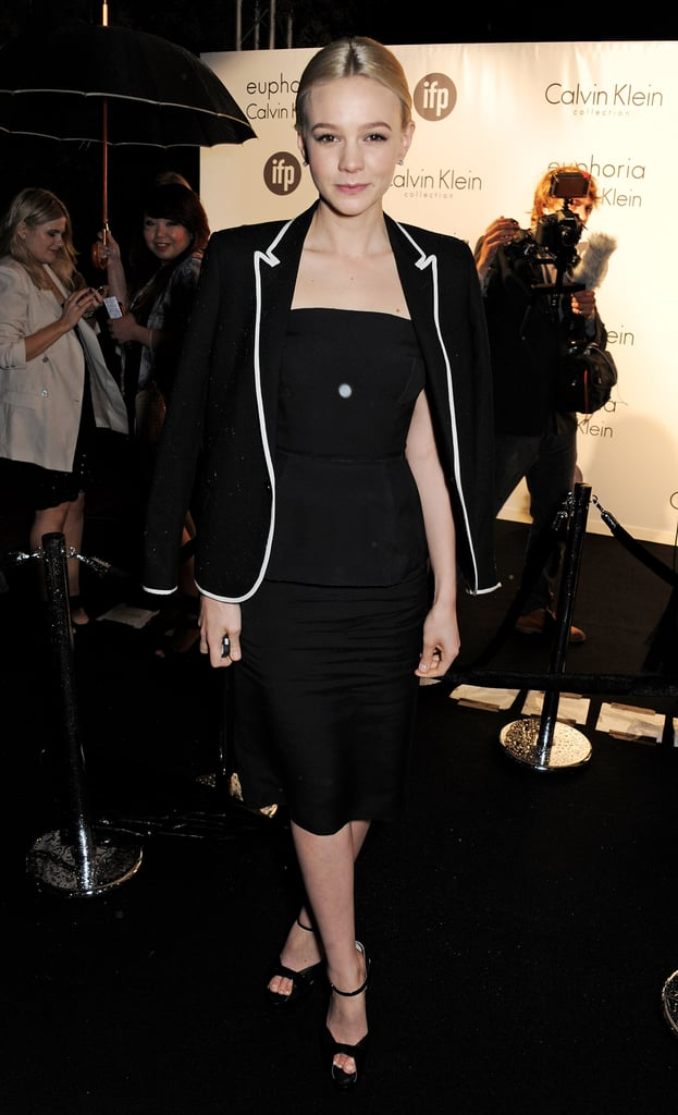 Carey Mulligan kept it chic at the Cannes party.