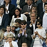 Tennis pro Rafael Nadal and Tom Cruise and Katie Holmes were just a few of the famous faces in the stands with Victoria during a June 2007 Real Madrid match in Spain.