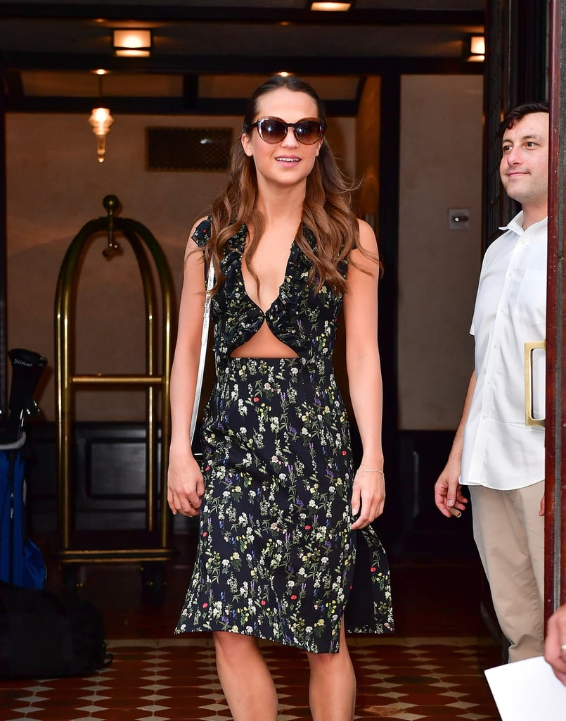 Alicia Vikander Cutout Dress July 2016
