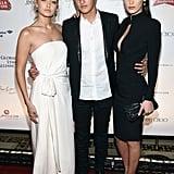 Gigi, Bella, and Anwar Hadid
