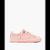 Monochrome Canvas Sneakers in Peach