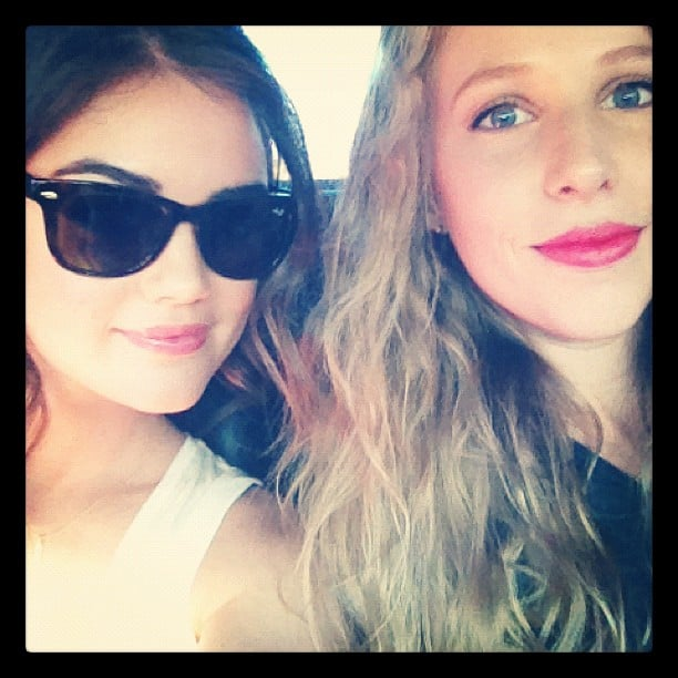 Lucy Hale snapped a photo on her way to an FNO event in LA.  Source: Instagram user lucyhale89
