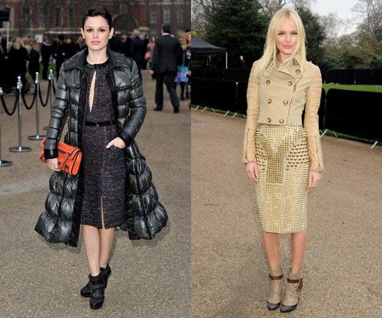 Rachel Bilson and Kate Bosworth at London Fashion Week