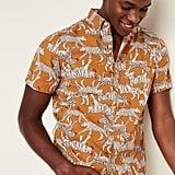 Built-In Flex Printed Everyday Short-Sleeve Shirt
