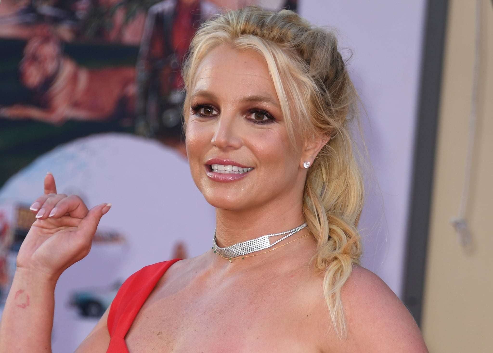 US singer Britney Spears arrives for the premiere of Sony Pictures'