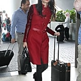 Amal Alamuddin at LAX 2015   Pictures