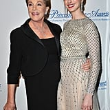 Anne Hathaway and Julie Andrews walked the red carpet together.