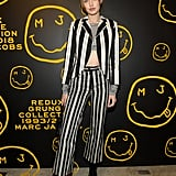 Gigi Hadid's Striped Marc Jacobs Suit December 2018