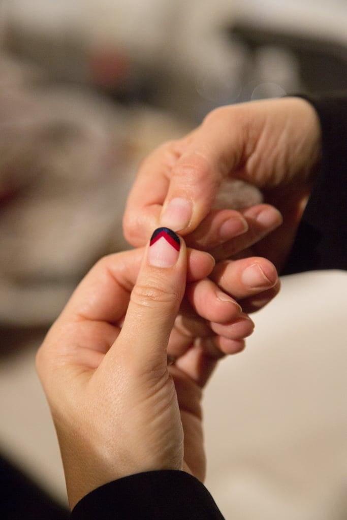 It Only Takes 3 Steps to DIY Rebecca Minkoff's Chevron Nail Art