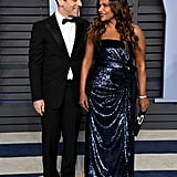 Mindy Kaling and BJ Novak at Oscars Vanity Fair Party 2018
