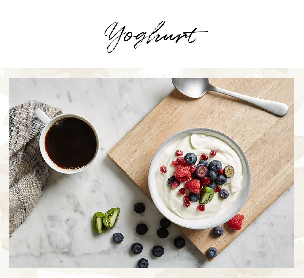 Given how much it looks like body lotion or face moisturiser, it should come as no surprise that yoghurt is a skincare gem, as well as a breakfast staple. Hands up — who's tried a homemade face mask with yoghurt as a kid? The good news is you were doing exactly the right thing! The lactic acid in yoghurt is a gentle exfoliator, sloughing off any dead skin cells to reveal the fresh, glowing skin beneath. It's not the same as using a scrub, but you'll definitely notice a difference if you whip up a yoghurt mask with any breakfast leftovers. Plain, live yoghurt can also be used to soothe sunburn, especially if it comes straight out of the fridge!