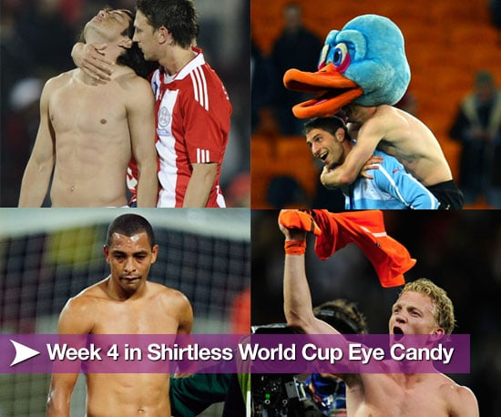Shirtless Football Players From Week Four of World Cup