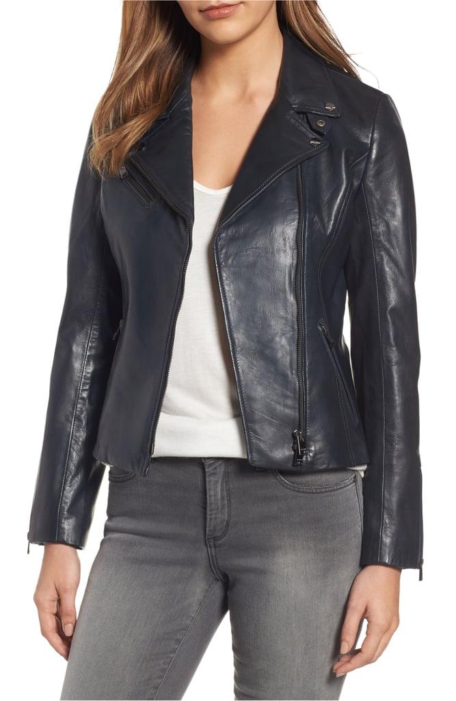 c1ca7dab9 LAMARQUE Asymmetrical Zip Leather Biker Jacket   Nordstrom ...