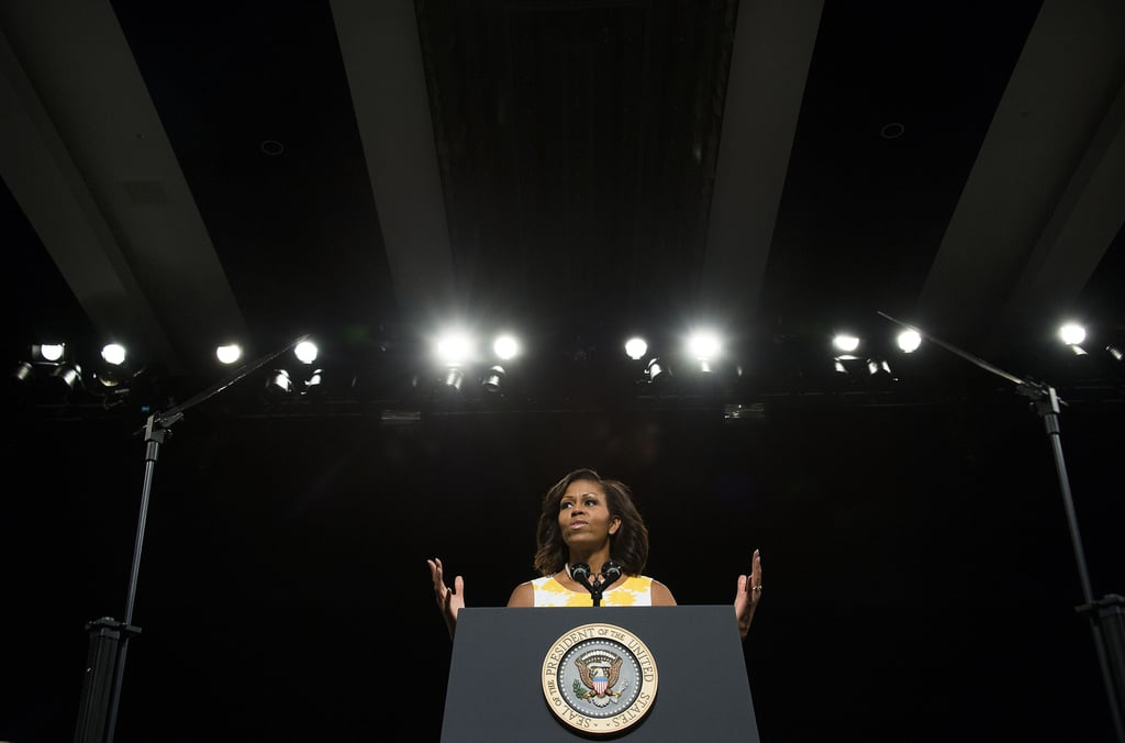 Michelle spoke at a veterans convention in Florida.