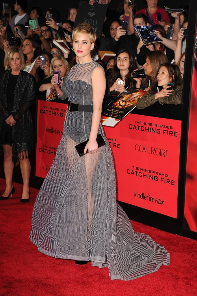 Jennifer Lawrence hit the red carpet at the Catching Fire premiere in LA.