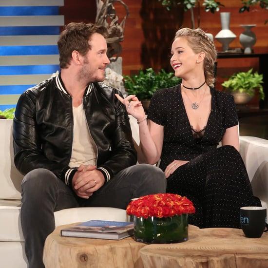 Jennifer Lawrence and Chris Pratt on Ellen November 2016