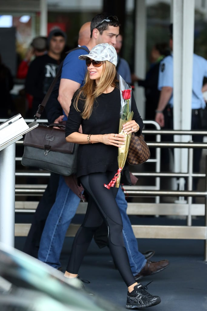 Sofia Vergara arrived with some of her Modern Family cast members on Tuesday morning, Feb. 18.