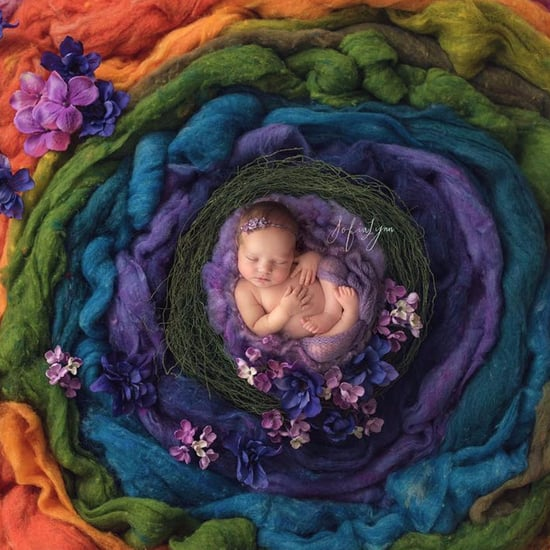 Newborn Rainbow Baby Photo