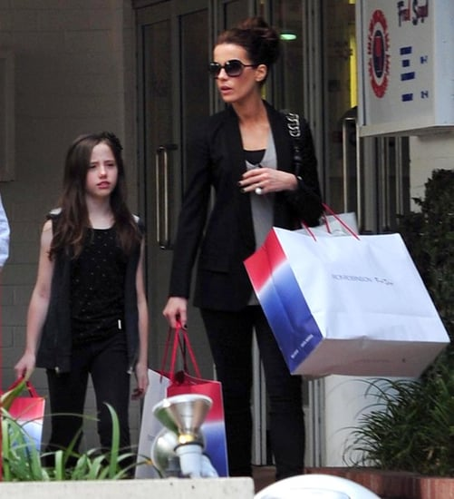 Kate Beckinsale and her daughter shopping at Fred Segal