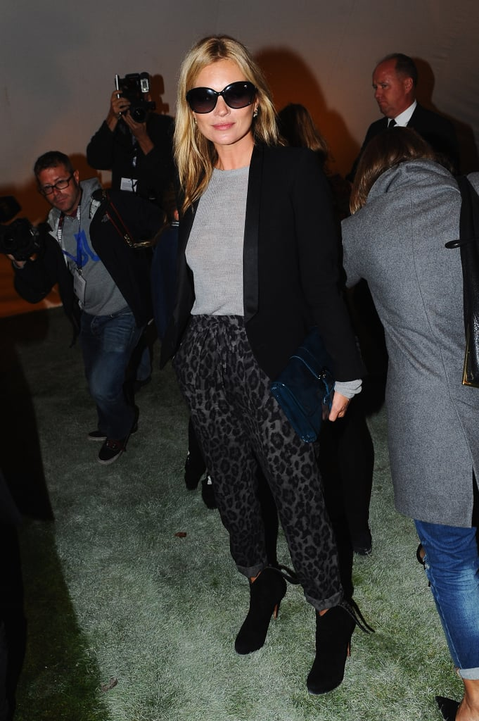 Kate Moss showed up for the Unique show.