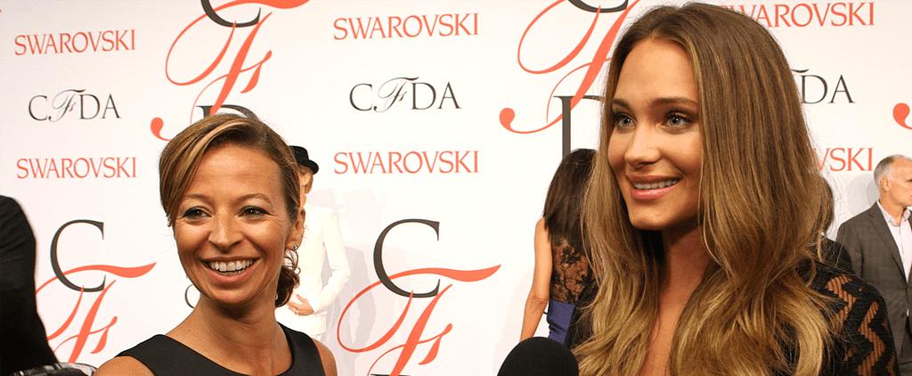 Hannah Davis at the CFDA Awards 2015 | Video