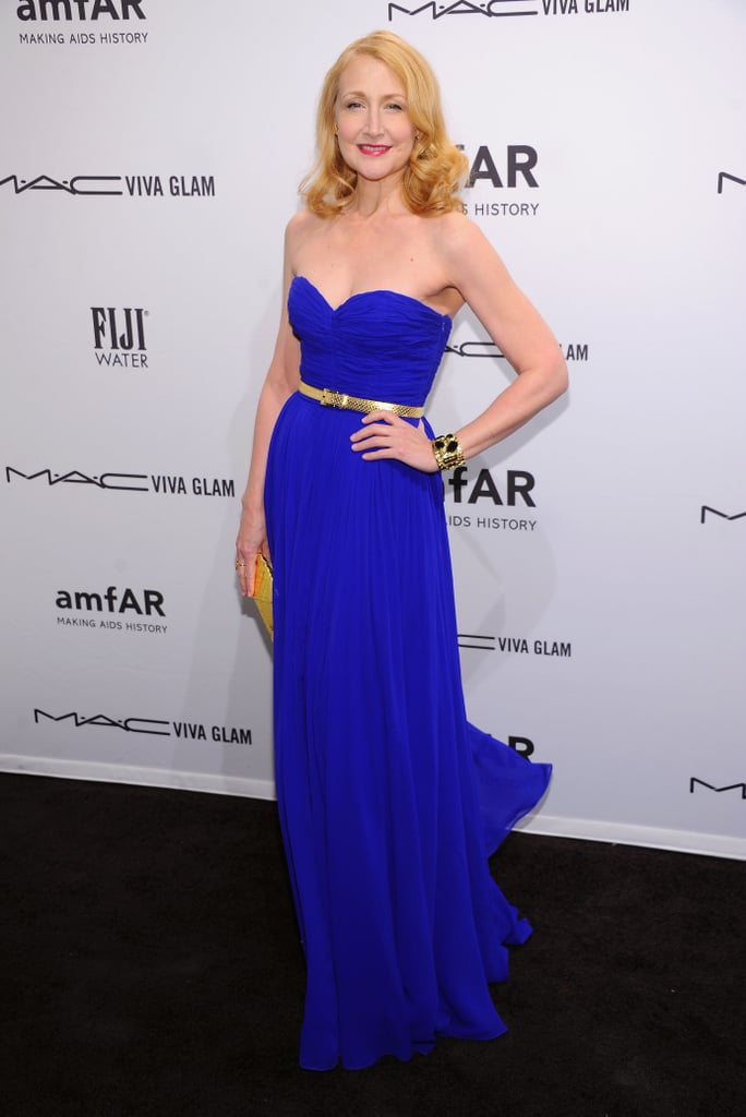 Patricia Clarkson wore a cobalt-blue Michael Kors gown with a thin gold belt.
