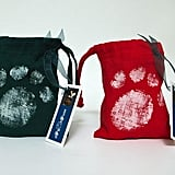 Paw Print Drawstring Bag