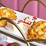 Buttermilk scones and Hello Kitty mini cakes.