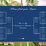 Bracket Wedding Seating Chart