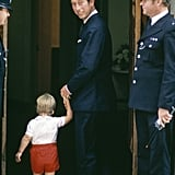 Prince William Meeting His Little Brother at the Hospital