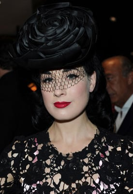 Burlesque Star Dita Von Teese Has a Room For Hats, Which Item Would You Like a Room For?