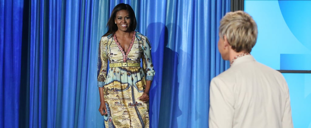 Michelle Obama Gucci Dress on the Ellen Show September 2016