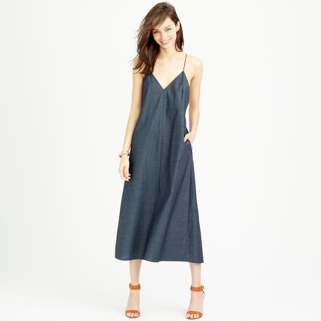 J.Crew Strappy chambray midi dress ($118)
