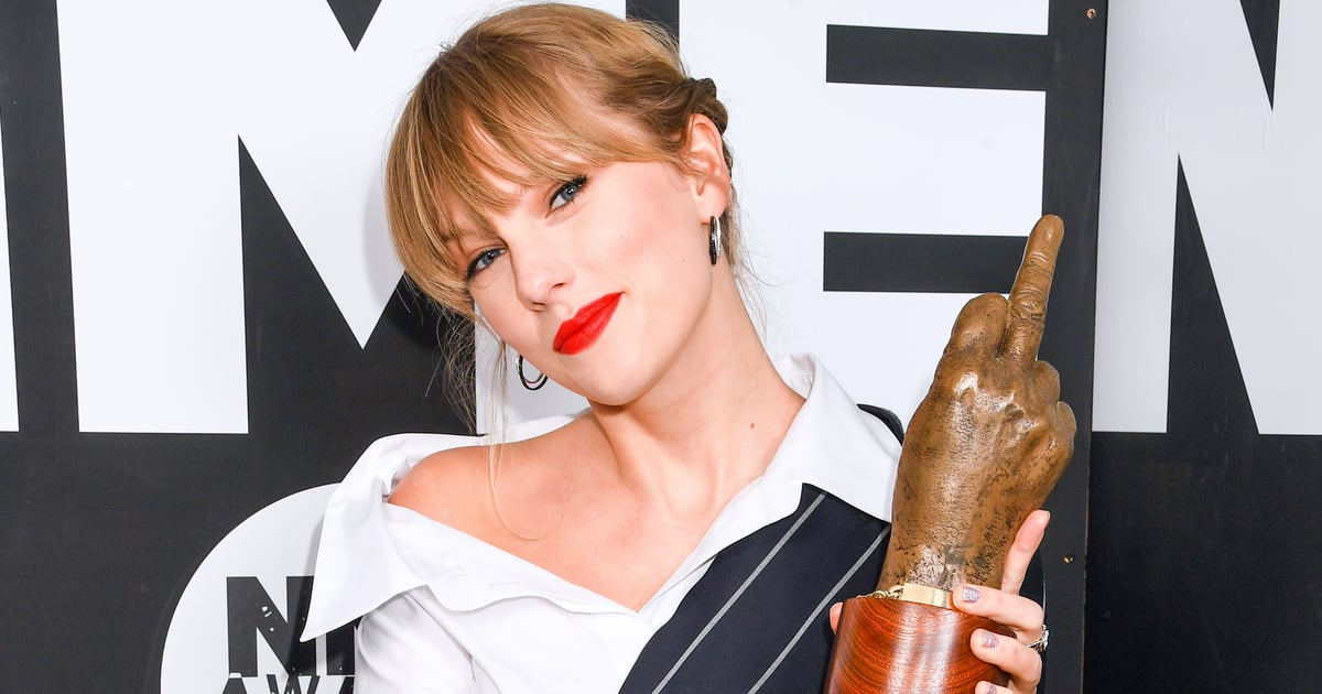 We Declare Taylor Swift an Honorary Brit After Accepting an NME in Brixton Holding a Glass of Wine