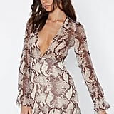 Nasty Gal Slither You Like It or Not Snake Dress
