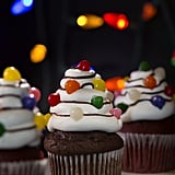 Christmas Tree Light Cupcakes