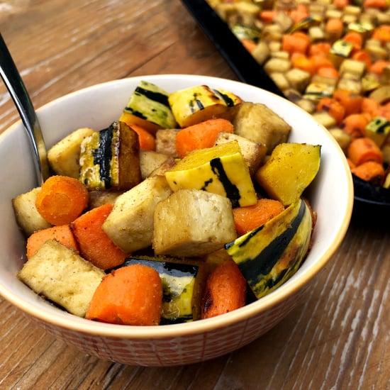 Roasted Tofu, Delicata Squash, and Carrot 1-Pan Meal