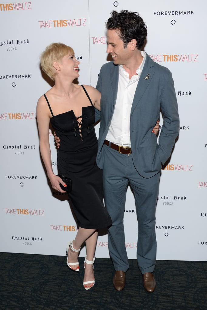Michelle Williams and Luke Kirby attend the premiere of Take This Waltz.