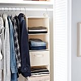 6-Compartment Natural Canvas Hanging Sweater Organiser