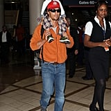 Matthew McConaughey carried his son Levi.