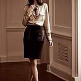 Kaya Shirt, Florence Tee, Nadine Skirt, Round Stone Collar Necklace